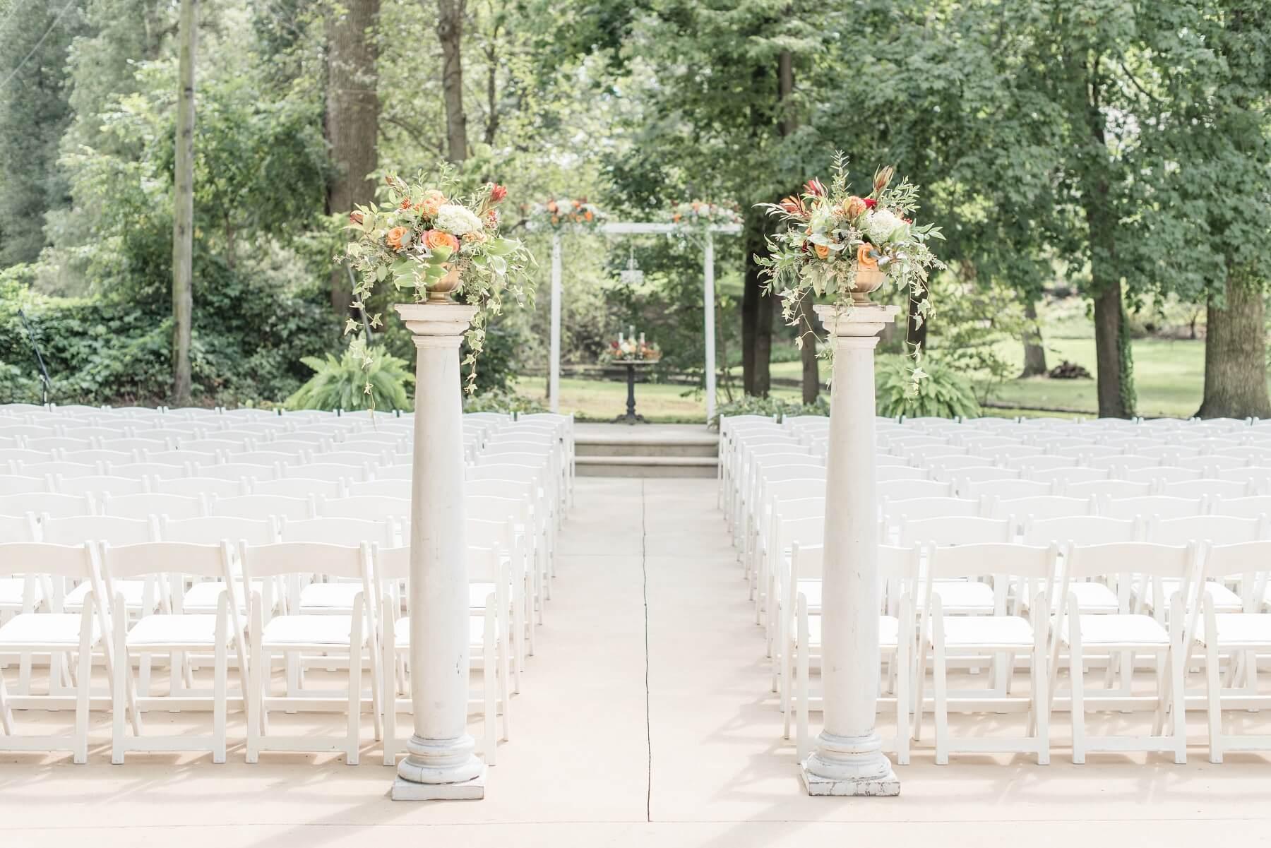 Outdoor Wedding at Cameron Estate Inn